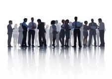大小组业务会议 库存图片