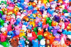 大小组黏土玩具 免版税库存图片