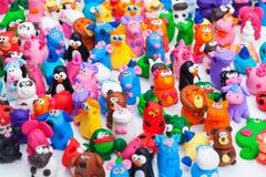 大小组黏土玩具 免版税库存照片