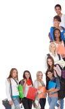 大小组女学生 免版税库存照片