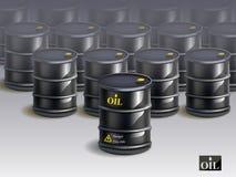 大小组黑新的油桶 向量 免版税库存照片