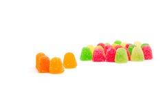 大小组橘子果酱五颜六色的图  免版税库存图片
