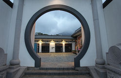 大屿山的香港昂坪360村庄 免版税库存照片