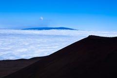 大岛冒纳凯阿火山双子星座观测所夏威夷 库存照片