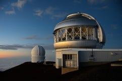 大岛冒纳凯阿火山双子星座观测所夏威夷 免版税库存照片
