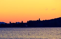 大岛在湖Trasimeno 图库摄影
