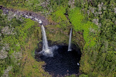 大岛瀑布,鸟瞰图 图库摄影