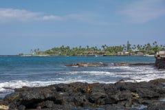 大岛,夏威夷海岸  免版税库存照片