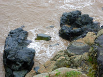 大岩石在普陀山 库存照片