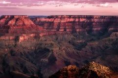 大峡谷五颜六色的日出横向 图库摄影
