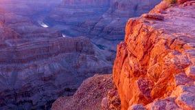大峡谷亚利桑那的颜色 免版税库存照片