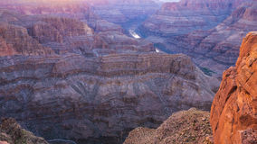 大峡谷亚利桑那的颜色 库存图片