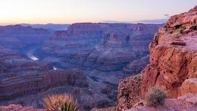 大峡谷亚利桑那的颜色 免版税图库摄影