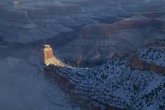 大峡谷冬天日出 免版税库存照片