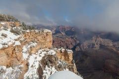大峡谷冬天风景风景 图库摄影
