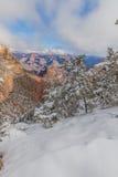 大峡谷南外缘冬天 库存照片