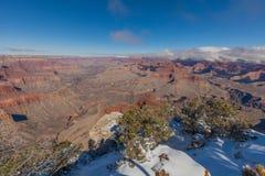 大峡谷南外缘风景在冬天 免版税库存图片