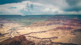 大峡谷和河科罗拉多风景视图  图库摄影