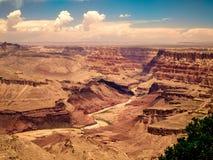大峡谷和河科罗拉多风景视图  免版税库存照片