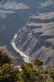 大峡谷和科罗拉多河美好的风景  库存照片