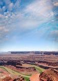 大峡谷和科罗拉多河风景看法  图库摄影