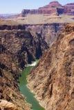 大峡谷和科罗拉多河 库存照片