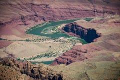 大峡谷国家公园 亚利桑那科罗拉多马掌河美国 著名观点 库存图片