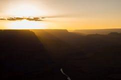 大峡谷国家公园-日落 免版税库存图片