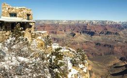 大峡谷在冬天,美国 库存照片
