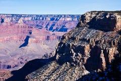 大峡谷在冬天 免版税库存图片