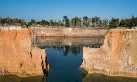 大峡谷在北泰国 库存照片