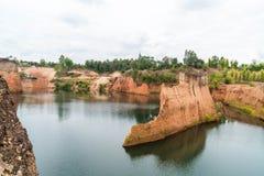 大峡谷在清迈,泰国 库存图片
