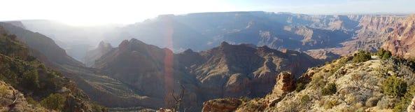大峡谷宽视图 库存照片