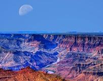 大峡谷月亮 免版税库存照片