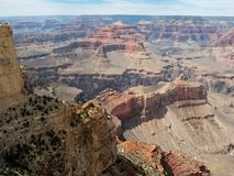 大峡谷的使人产生敬畏心的看法在亚利桑那 库存图片