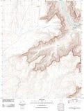 大峡谷的地形图 库存照片