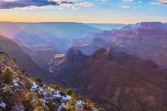 大峡谷的庄严景色 免版税库存照片