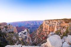 大峡谷的看法在Moran点附近的 库存图片