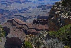 大峡谷纹理和颜色 图库摄影