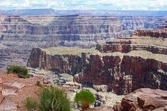 大峡谷西部外缘在亚利桑那,美国 库存图片