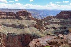 大峡谷西部外缘在亚利桑那,美国 图库摄影