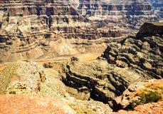 大峡谷西部外缘-老鹰点,夏日-亚利桑那, AZ 免版税图库摄影
