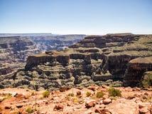 大峡谷西部外缘-老鹰点-亚利桑那, AZ 免版税库存图片