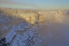 大峡谷雪 库存图片