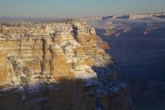 大峡谷风景冬天的日出 免版税库存照片