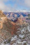 大峡谷风景在冬天 库存照片
