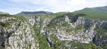 大峡谷du维登,法国 免版税库存照片
