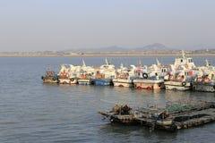 大嶝轮渡码头在amoy城市 免版税库存照片