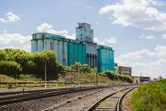 大工业电梯,铁路 图库摄影