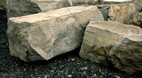 大工作的大岩石 库存图片